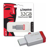 Memoria Usb 32gb Kingston Dt50 3.1/3.0/2.0 Al Por Mayor