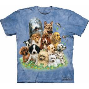 Playera 4d - Unisex Infantiles - 1083 Puppies In Grass.