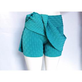 Kit 3 Short-saia Tecido Bolha Academia Fitness