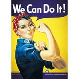 Poster We Can Do It! Feminista 90x60cm Importado Uk