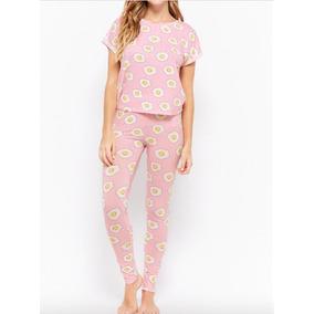 fbd4a7ec49 Forever 21 Set Pijama Dama Pantalon Huevitos Estrellados