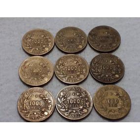 M107n= 9 Moedas Abundancia 1927 1000 Réis