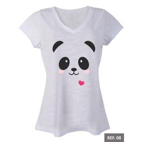 502f8fc8c7 Panda Unicornio - Camisetas e Blusas no Mercado Livre Brasil