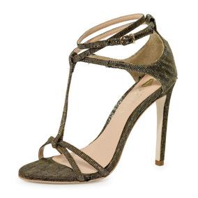 c4f48cb6b Sandália Salto Alto Para Festa - Sapatos Dourado escuro no Mercado ...