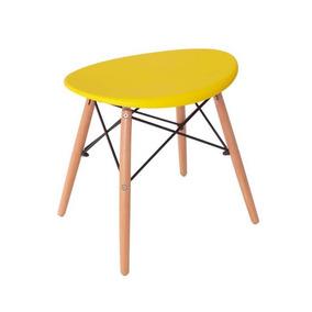 Kit 2 Banquinhos Puff Amarelo Design Charles Eames Eiffel c39d96efe88