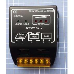 Controlador De Carga 20a 12v/24v 240w/480w Pwm Painel Solar