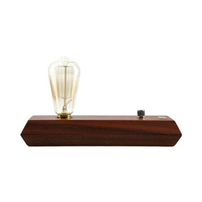 Lámpara Decorativa Vintage De Madera Lampë - Base Carmina