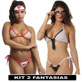 Kit Com 2 Fantasias Eroticas Enfermeira Do Amor Executiva 99930d72e66
