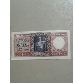 Antiguo Billete Serie C Argentino Un Peso