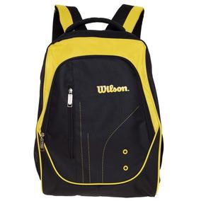 Mochila Clasica Wilson Negro/amarillo