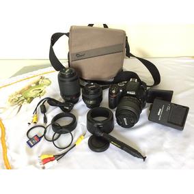 Camera Nikon D5100, 3 Lentes Inclusas