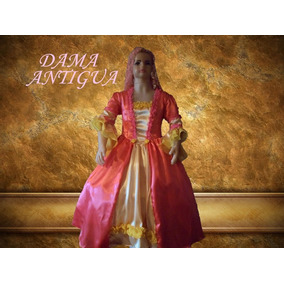 Disfraz Vestido Traje De Dama Antigua Adulto