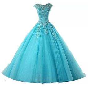 Vestido De Festa Debutante 15 Quinze Anos Azul Tiffany