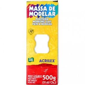 Massa De Modelar Modeling Clay Plastilina Branca 1 Kg