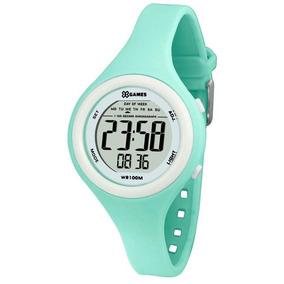 bb2bdf273ee Relógio Feminino Digital X-games Xfppd038 bxfx Verde branco