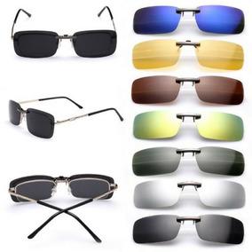dd8ab5a919be5 Clip On De Sobrepor Óculos De Grau Proteção Uv400 Verde - Óculos no ...