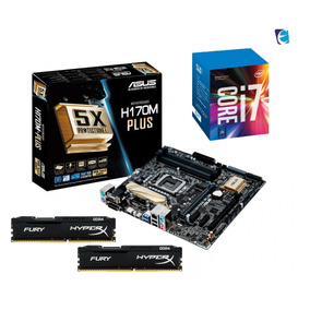 Kit Intel Core I7 7700 Asus H170m Plus Hyper X 2x 4gb Fury I