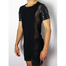 64c71ab89 Camiseta Com Ziper Transversal - Calçados, Roupas e Bolsas Preto no ...