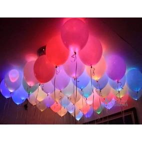50 Mini Led P Bexiga Lampada Festa Balão Decoração Casamento