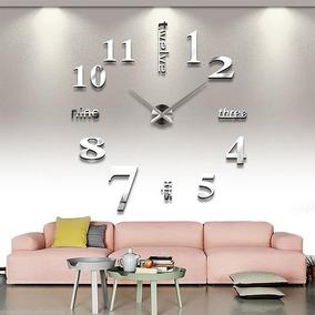 Moderno Reloj De Pared Gigante Minimalista 3d Pegatina