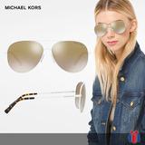 Lentes Michael Kors Mk1007 Kendall Blanco Y Oro - Nuevo Orig