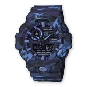 9b2186a43a8 Relogio Casio Camuflado Azul - Relógios De Pulso no Mercado Livre Brasil