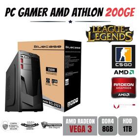 Pc Gamer Amd Athlon 200ge 8gb Ddr4 Vega 3 Apu Com Hdd 1tb