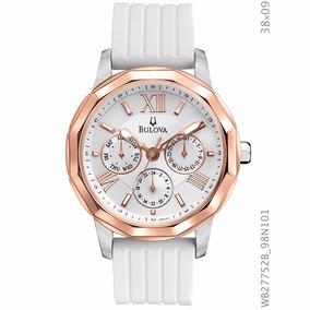 Relógio Bulova Wb27752b 98n101 Branco E Dourado