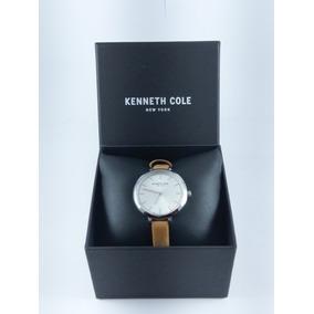 Reloj Kenneth Cole 100% Original Para Dama Color Café