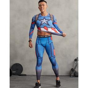 Conjunto Deportivo Superhero Gym Modelo Capitán América
