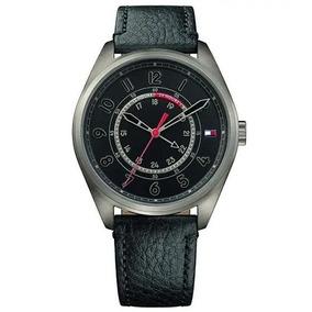 Relógio Tommy Hilfiger Masculino Couro Preto Original