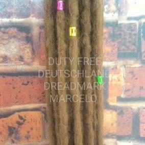 Dreads Loiro Dourado Kit Com 20 Dreads Sinteticos 50 Cm