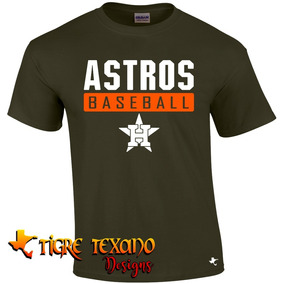 Playera Beisbol Mlb Astros Hou Mod L By Tigre Texano Designs