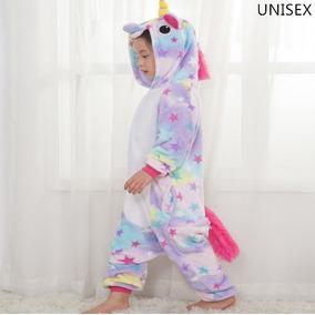 Pijama Mameluco Unicornio Cosplay Estrellas Niño Niña