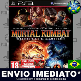 Mortal Kombat 9 Komplete Edition Jogo Ps3 Pt Br Envio Agora