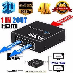 Splitter Distribuidor De Sinal Hdmi 3d 4k Duplicado Tv T34