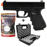 Pistola Airsoft Spring Galaxy Glock Full Metal +case+ 2000bb
