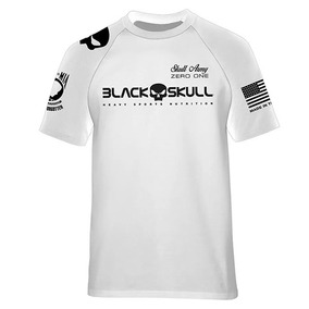 Camiseta Original Dry Fit Branca - Black Skull - Nova