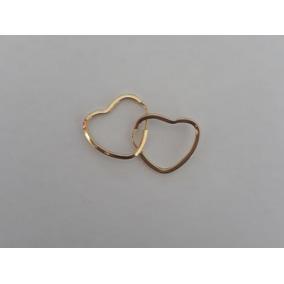 Brinco Argola Coração 1.1cm Coracao Ouro 18k.
