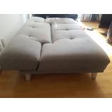 Futón Sofa Cama Dettaglio Gris Claro 3 Posiciones Como Nuevo