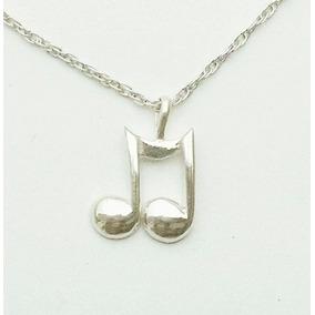 Dije De Nota Musical De Plata Sólida .925 Sterling