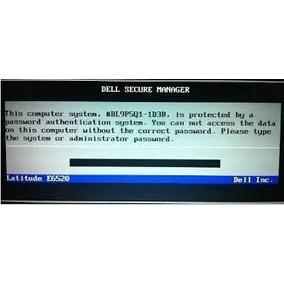 Remova A Senha Do Seu Dell Bios E Hd 1d3b 2a7b A95b 595b