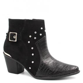 bb802411b8444 Botas Ankle Boots Via Marte para Feminino no Mercado Livre Brasil
