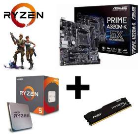 Kit Upgrade Gamer Asus + Ryzen R5 1600 + 4gb Ddr4