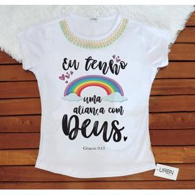 Kit Camiseta Feminina 8und Sem Pedras 2 Com Pedras Gospel