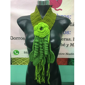 Bufanda Moderna Para Mujer 100% Tejido Crochet