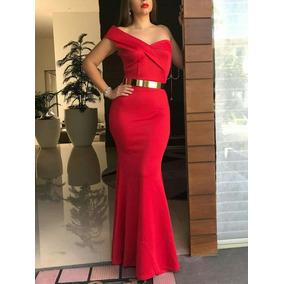 Vestido De Fiesta Rojo Una Manga Glam Envy
