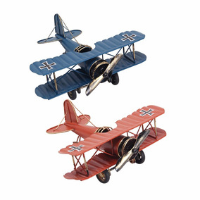 Avião Em Metal - Réplica - Decoração - Brinquedo - Miniatura