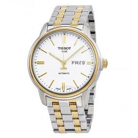 Relógio Tissot Masculino Automático Iii Branco/prata/ouro