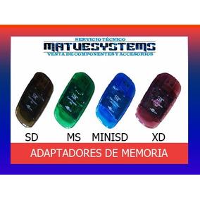 Lectores De Memoria Usb: Sd Xd Ms Minisd Nuevos|matvesystems